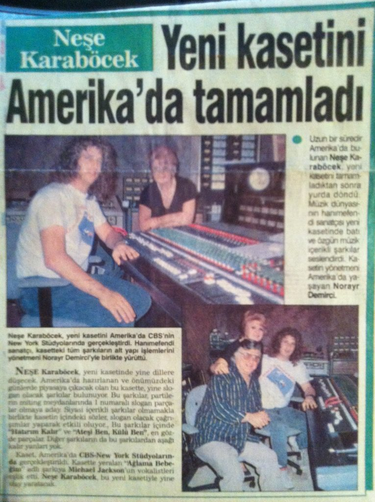 Made the front page with Nese who is a big star in Turkey