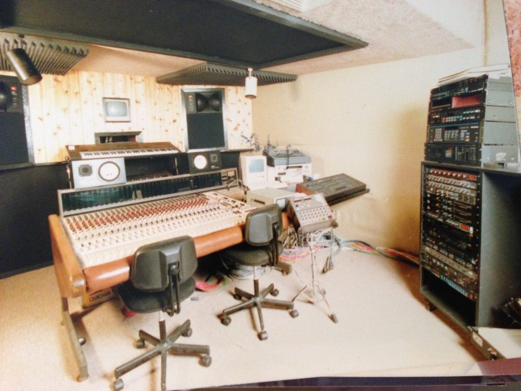 My first pro analog studio late 80's.  That MCI console I purchased from Atlantic Records.  It was used on Led Zeppelins In Through The Out Door among others